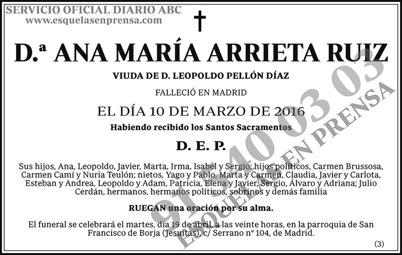 Ana María Arrieta Ruiz